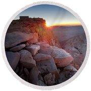 Mt Whitney And Pinnacles Sunrise - John Muir Trail Round Beach Towel