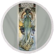 Mucha: Theatrical Poster Round Beach Towel