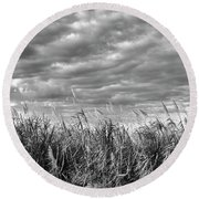 Muck City Landscape Round Beach Towel