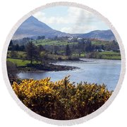 Muckish ,irish Landscape  Round Beach Towel