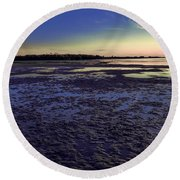 Muddy Beach Round Beach Towel