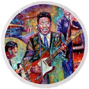 Muddy Waters And His Band Round Beach Towel