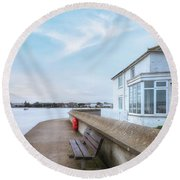 Mudeford - England Round Beach Towel