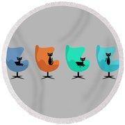 Mug Design With Egg Chairs Round Beach Towel