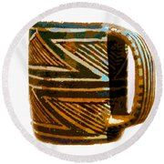Mug Of The Anasazi Round Beach Towel