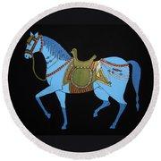 Mughal Horse Round Beach Towel