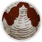 Mukama Atulabba - God Sees Us - Tile Round Beach Towel