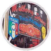 Mulberry Street Cigar Company Round Beach Towel