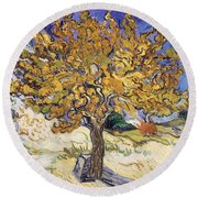 Mulberry Tree Round Beach Towel