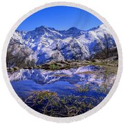 Mulhacen  Alcazaba And Vacares Round Beach Towel