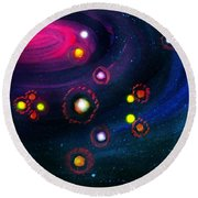 Multi-colored Constellation  Round Beach Towel