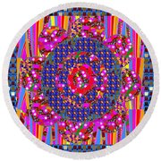Multi Layered Colorful Flowers Christmas Wreath Style By Navinjoshi At Fineartamerica  Round Beach Towel