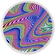 Multicolor Swirls Round Beach Towel