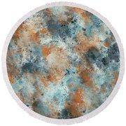 Multicolor Texture 001 Round Beach Towel