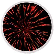 Multicolored Fireworks 2 Round Beach Towel