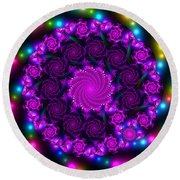 Multicolored Mosaica Round Beach Towel