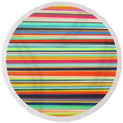 Multiple Exposure 2 Round Beach Towel