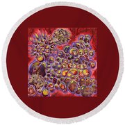 Multiply Microbiology Landscapes Series Round Beach Towel