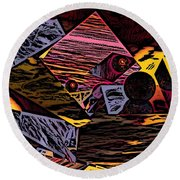 Multiverse II Round Beach Towel