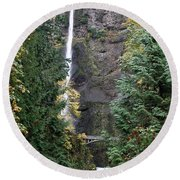 Multnomah Falls - 5 Round Beach Towel