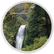 Multnomah Falls 3 Round Beach Towel