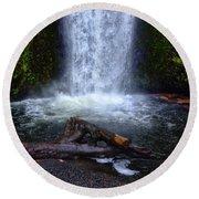 Multnomah Falls 5 Round Beach Towel