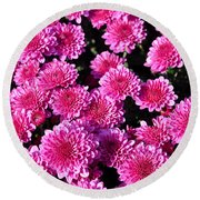 Mums The Word Round Beach Towel