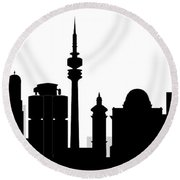Munchen Skyline Round Beach Towel