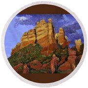 Munds Mountain Round Beach Towel