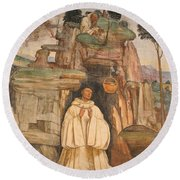 Mural Church Art Round Beach Towel