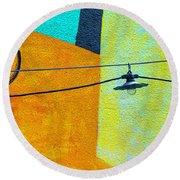 Mural Niedersachsen Club V3 Dsc_3560 Round Beach Towel