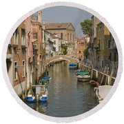 Murano Canal 4329 Round Beach Towel