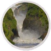 Murchison Falls, Uganda Round Beach Towel