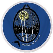 Murder Of Crows Round Beach Towel