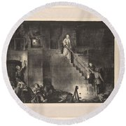 Murder Of Edith Cavell, First State By George Bellows 1882-1925 Round Beach Towel