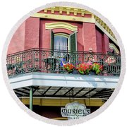 Muriels On The Square _ Nola Round Beach Towel
