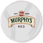 Murphys Irish Red Round Beach Towel