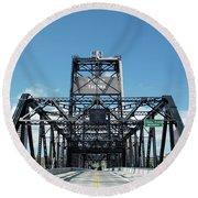 Murray Morgan Bridge, Tacoma, Washington Round Beach Towel