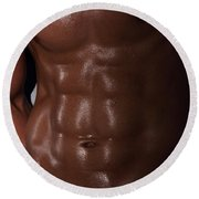 Muscle Man Round Beach Towel