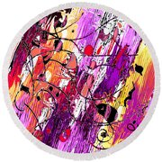 Muse Fragments Round Beach Towel