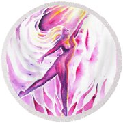 Muse Of Dance Round Beach Towel