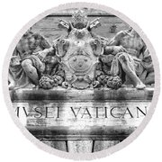 Musei Vaticani Round Beach Towel