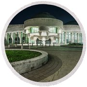 Museums Face Entrance Round Beach Towel