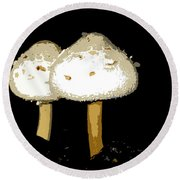Mushrooms For Two Work Number 11 Round Beach Towel