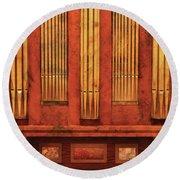 Music - Organist - Skippack  Ville Organ - 1835 Round Beach Towel