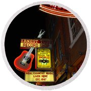 Music City Nashville Round Beach Towel