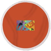 Music For The Eyes Round Beach Towel
