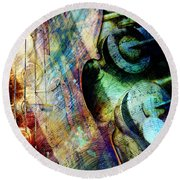 Music II Round Beach Towel