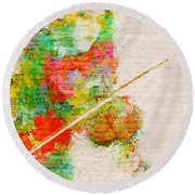 Music In My Soul Round Beach Towel by Nikki Smith