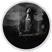 Music In My Soul Round Beach Towel